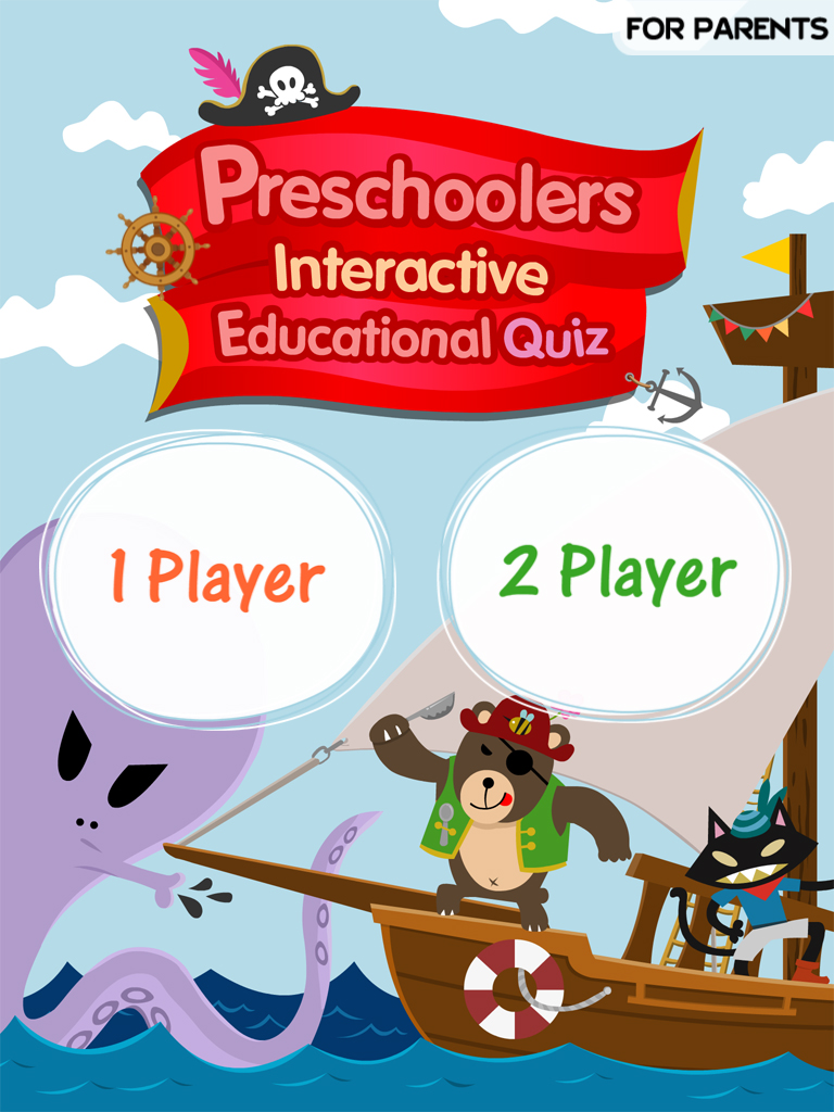 Preschoolers Interactive Educational Quiz - 2 Player Game