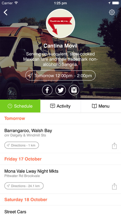 Sydney Food Truck App