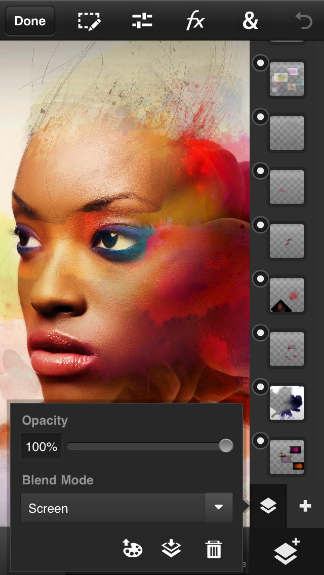 Adobe Photoshop Touch for phone Screenshot