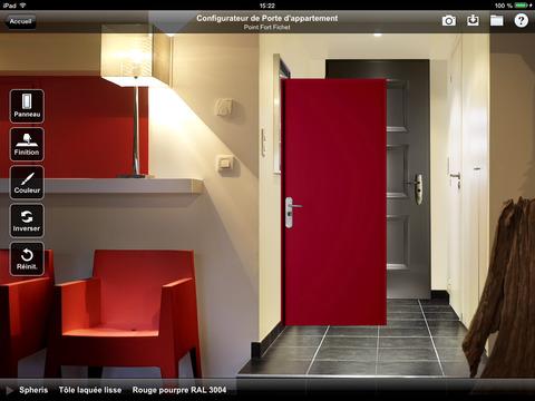 configurateur pour porte d entr e pour appartement point fort fichet dans l app store. Black Bedroom Furniture Sets. Home Design Ideas