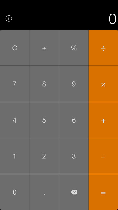 Calculator Widget for Notification Center Screenshot