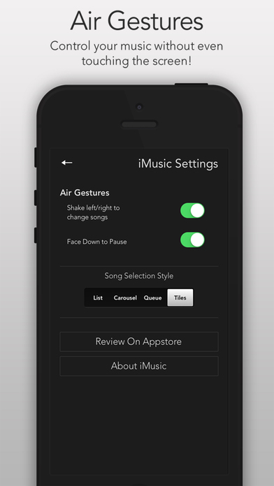 iMusic - The Perfect Music Player - Listen to Free Music Without Even Touching Your Screen Screenshot