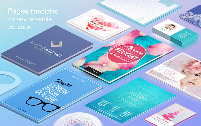 Templates for Pages - resumes, brochures, posters Screenshot
