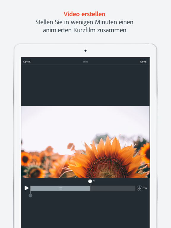 Adobe Spark Video, Animierte Videos in Rekordzeit Screenshot