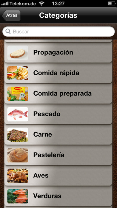 Calculadora de calorías en el App Store