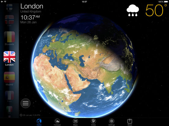 3D Earth - weather and forecast Screenshot