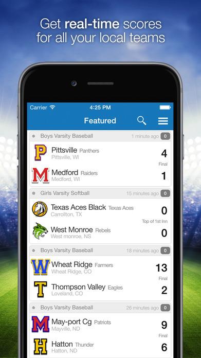 ScoreStream - High School & College Sports Scores Screenshot