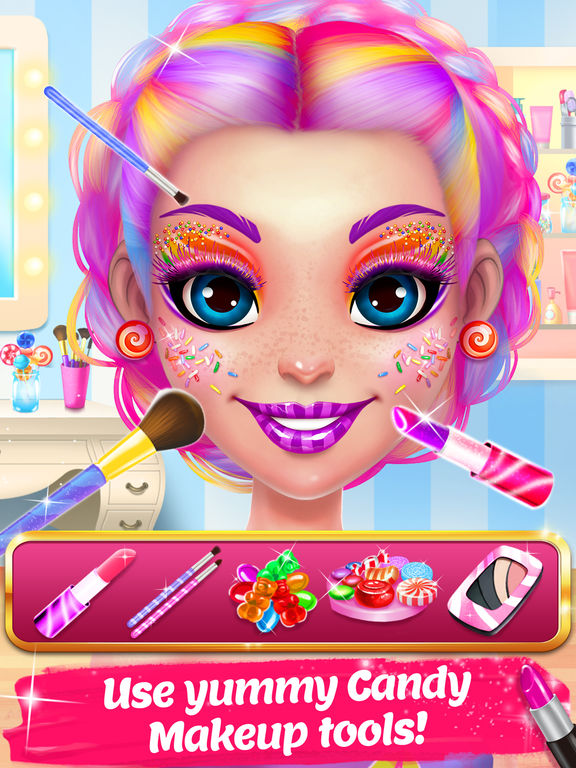 candy makeup sweet salon games
