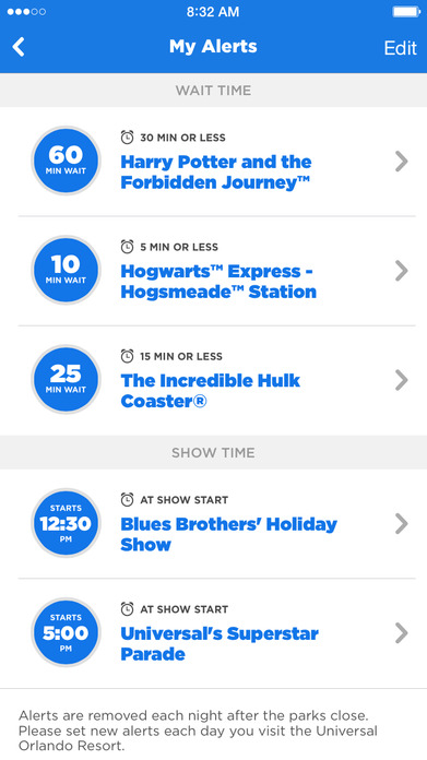 The Official Universal Orlando® Resort App Screenshot