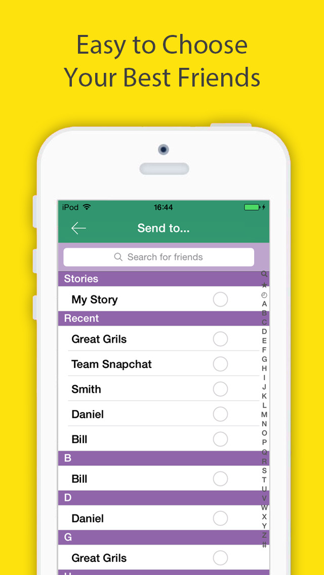 Snap Upload - Send photos & videos from your camera roll to snapchat! Screenshot