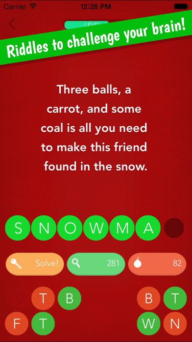 Christmas Riddles – The Fun Free Word Game For The Holiday Season Screenshot