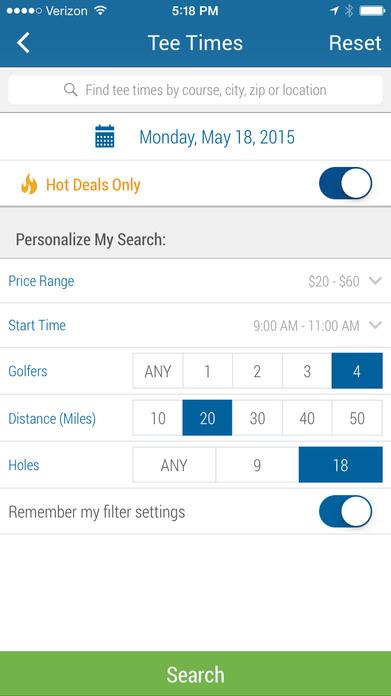 GolfNow – Book Tee Times, Golf GPS, Scorecard Screenshot