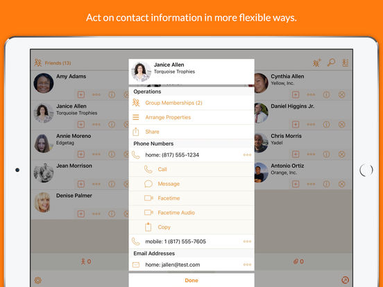 Interact Contacts - Do more with your Contacts! Screenshot