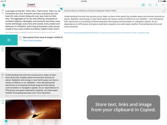 Copied – Copy and Paste Everywhere Screenshot