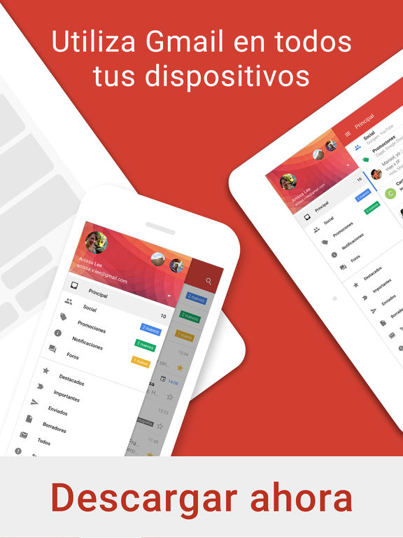 Gmail - El e-mail de Google: seguro y organizado Screenshot