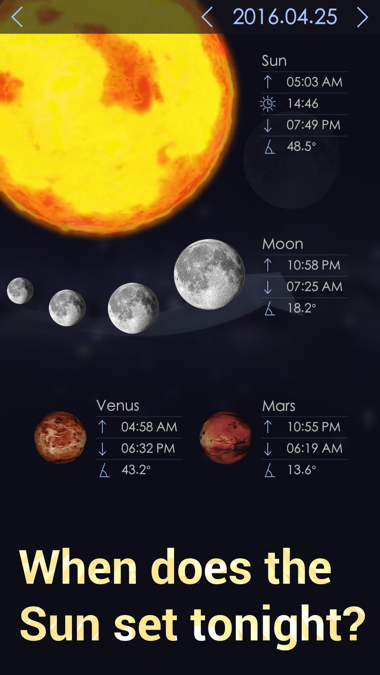 Star Walk 2 Ads+ Night Sky Map - Stars and Planets Screenshot
