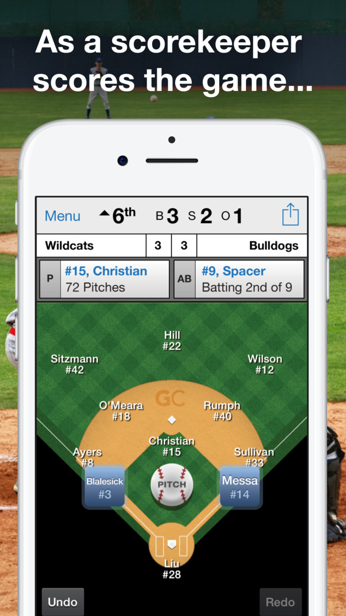 GameChanger Baseball & Softball Scorekeeper Screenshot
