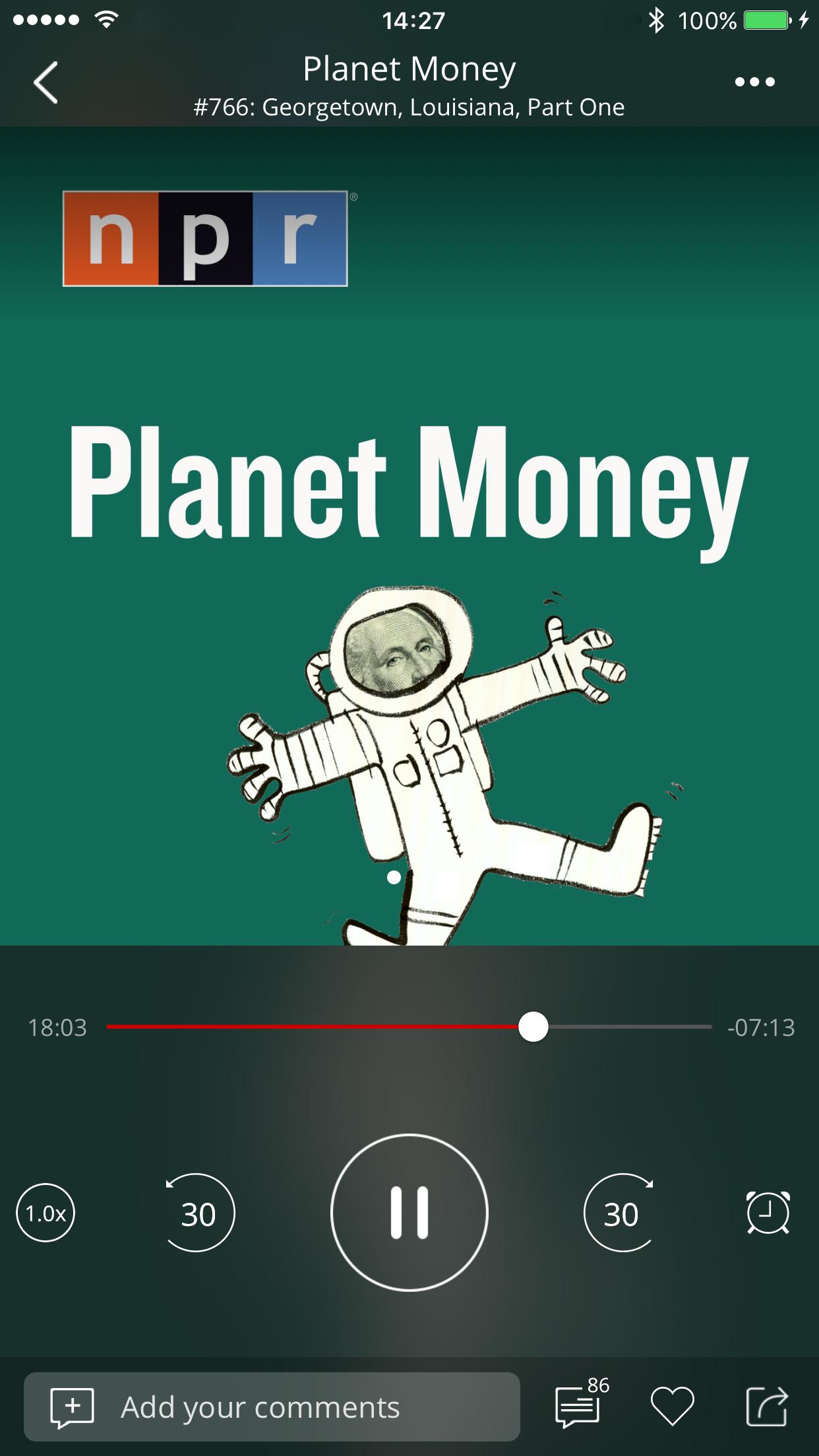 Podbean Podcast App, Podcast Player Screenshot