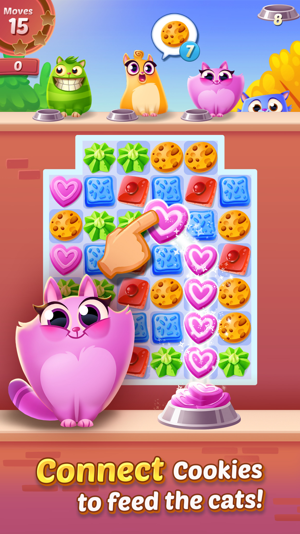 Cookie Cats - a singing puzzle adventure Screenshot