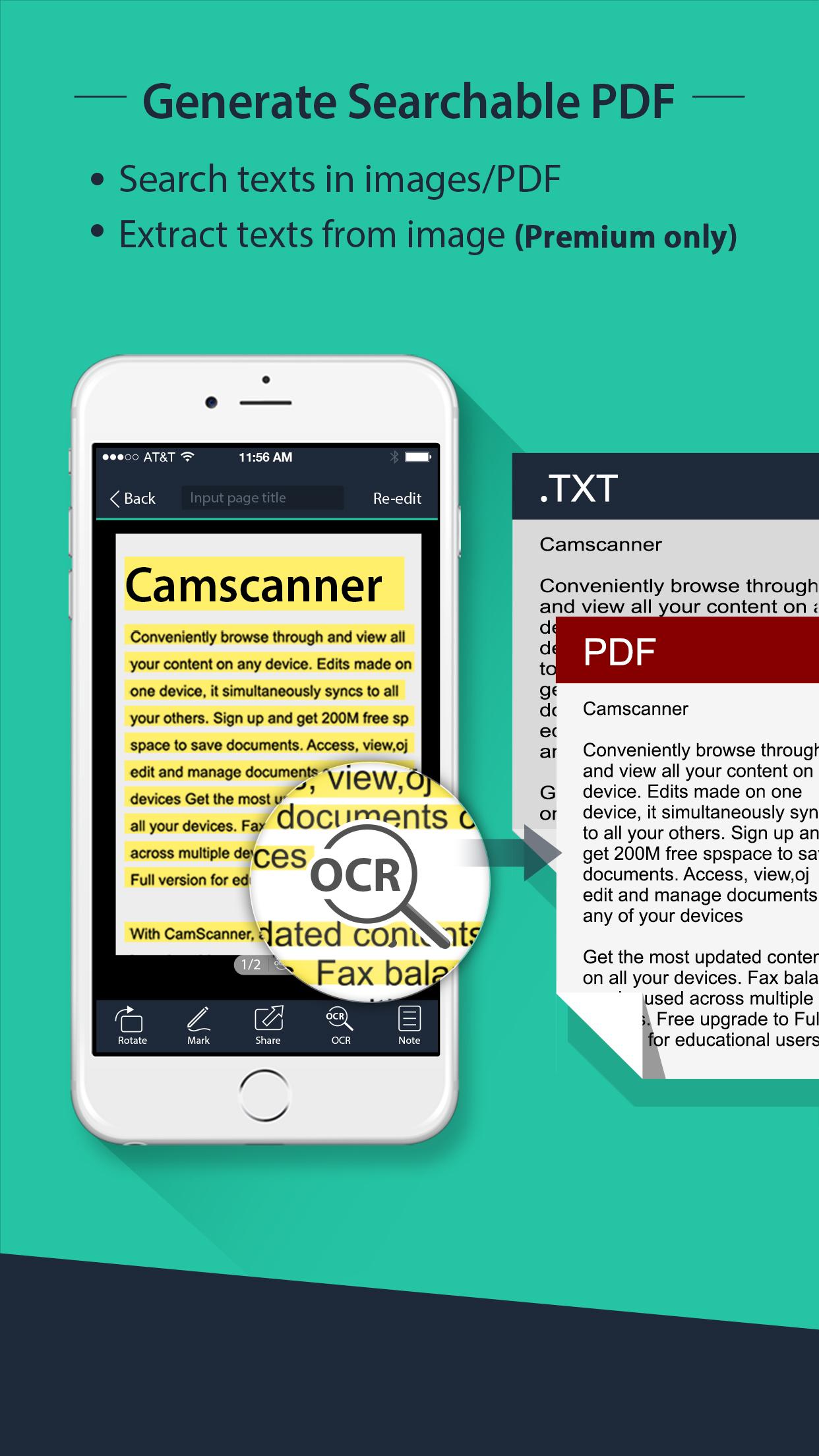 CamScanner Lite| PDF Document Scanner and OCR Screenshot