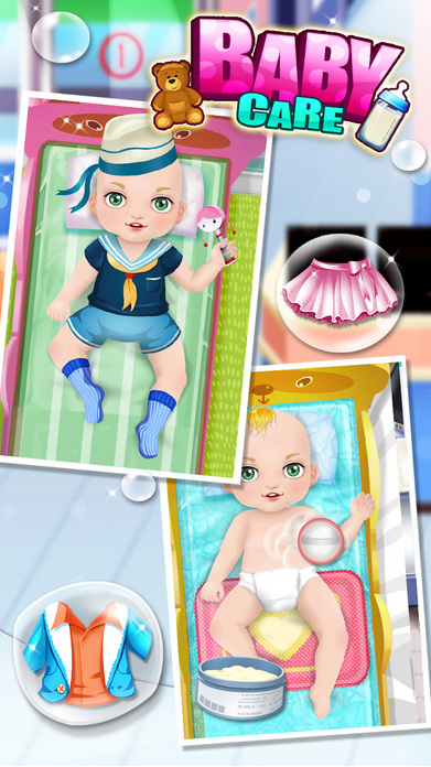 Baby Care & Baby Hospital - Kids games Screenshot