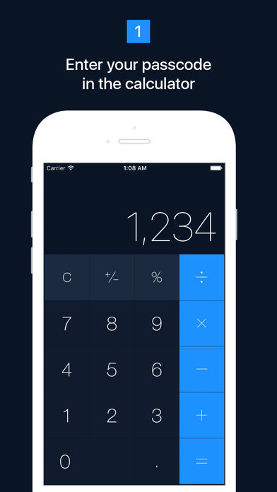 Hide calculator iphone