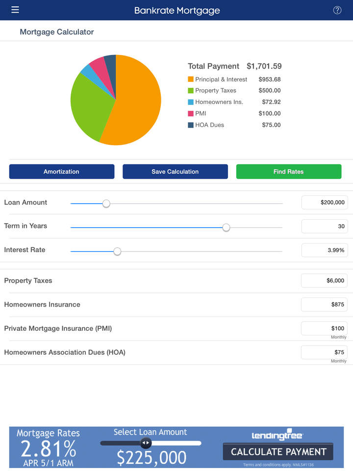 Mortgage Calculator & Mortgage Rates By Bankrate - App Store