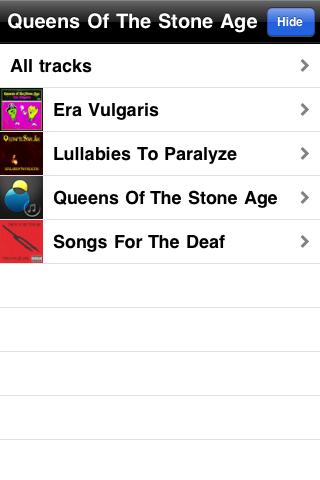sonarflow – visual music browser Screenshot
