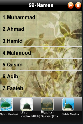 99 Names of Prophet Mohammed(S A W) | iPhone Utilities apps