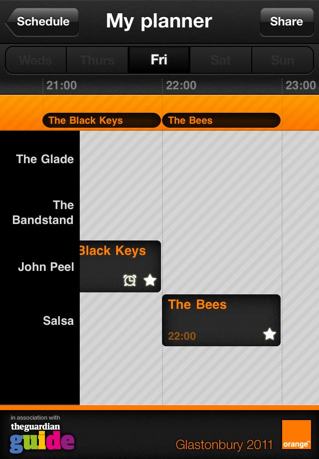 Glastonbury 2011 Screenshot
