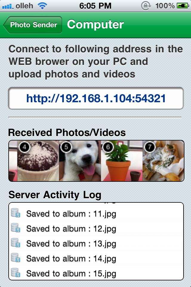 WiFi Photo Sender – Share Multi Photos and Videos on WiFi Screenshot
