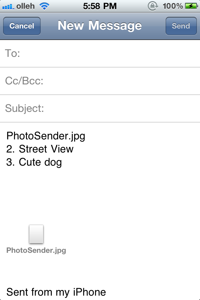 Email Photo Sender – Send Multi Photos and Videos with Email Screenshot