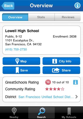 GreatSchools Finder Screenshot