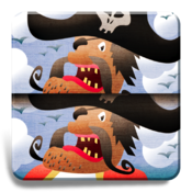 My first find the differences game: Pirates
