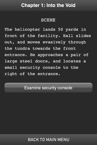 Terminus Interactive Fiction Screenshot