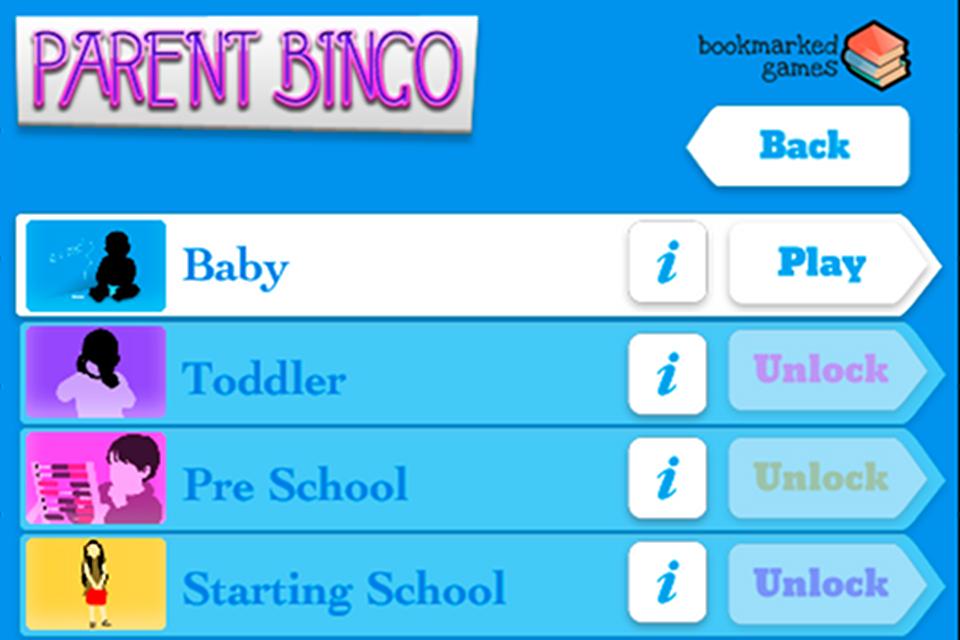 Parent Bingo Screenshot