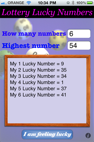 Lottery Lucky Numbers