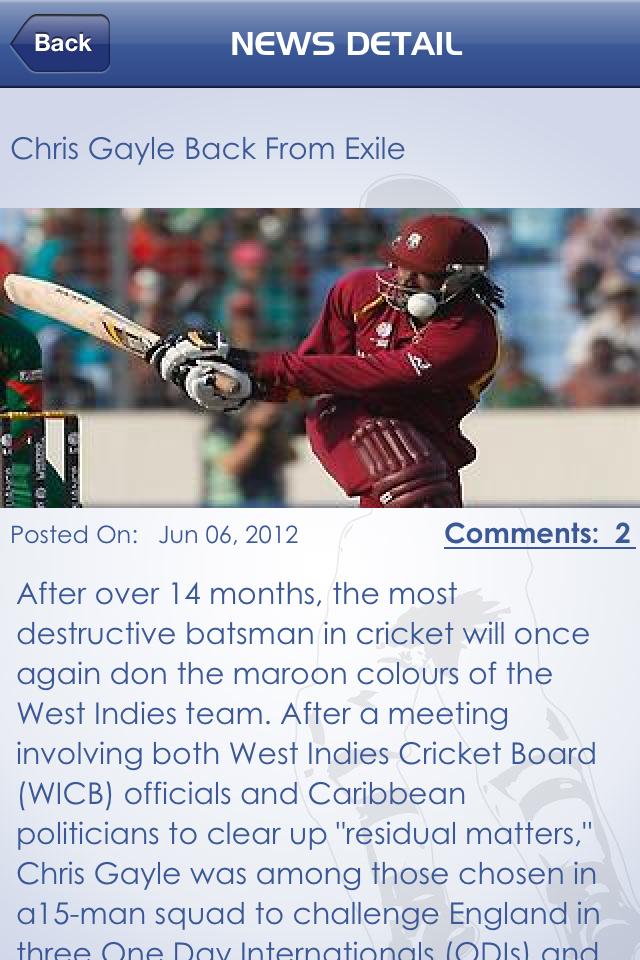 Cricket Companion V4.0 Screenshot