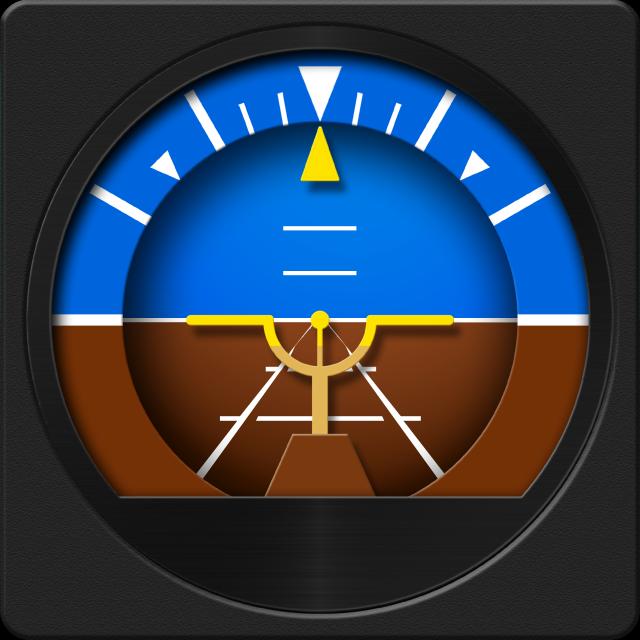 Airplane Gyroscope Attitude Indicator | iPhone Utilities