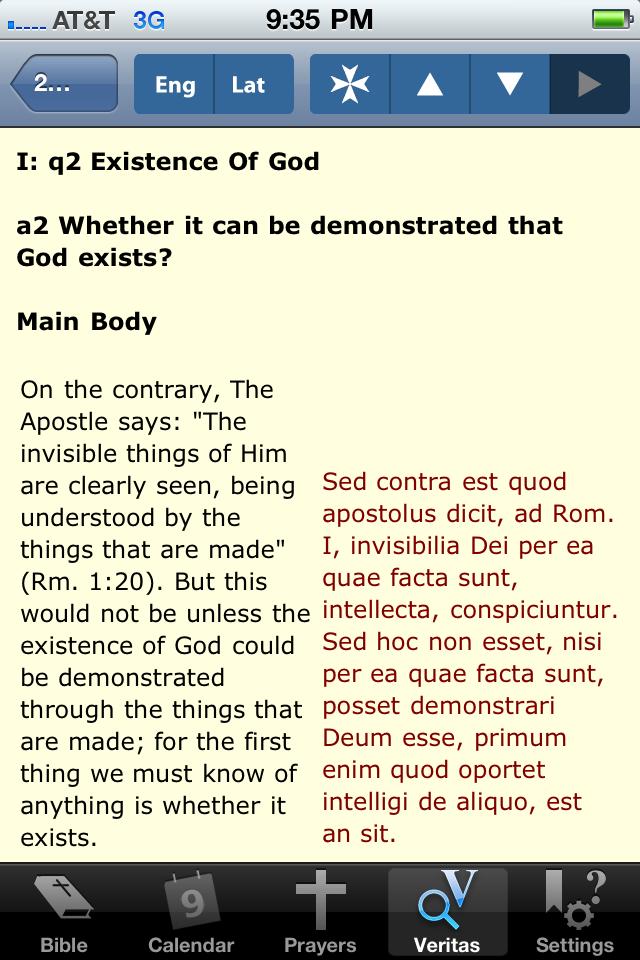 iPieta (Catholic Teaching, Calendar, and Prayer) Screenshot