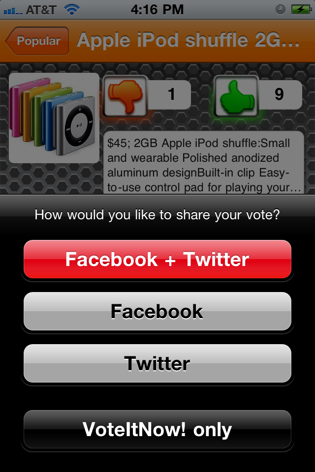 VoteItNow! – What do you think? Screenshot