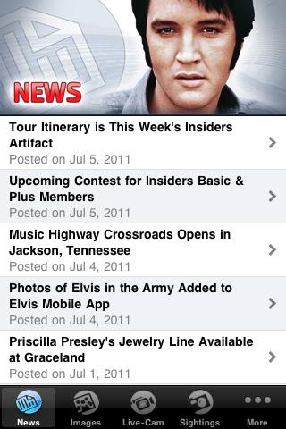 ELVIS Mobile 2.0 Screenshot