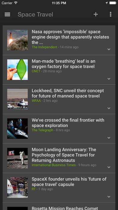 Google News & Weather Screenshot