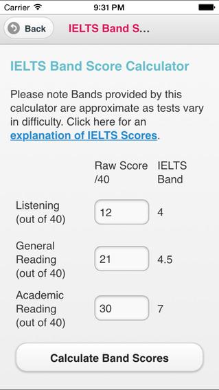 IELTS 9-band Scale