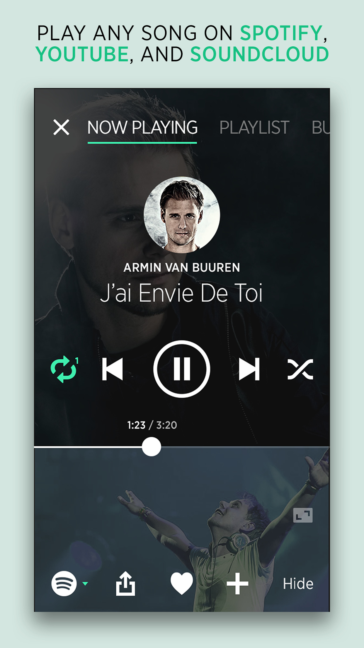 bop.fm Music Player