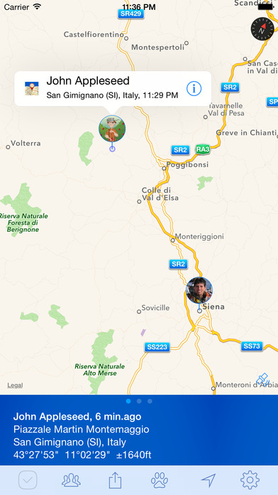 PlaceTrack - family tracking and location sharing (formerly Latitude updater) Screenshot