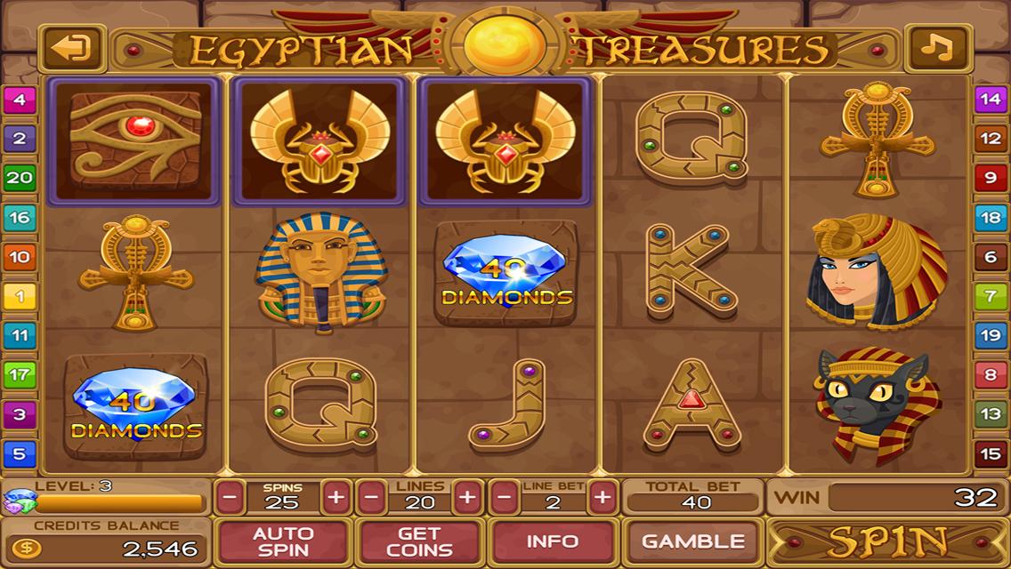 Free Slots Egypt Treasure