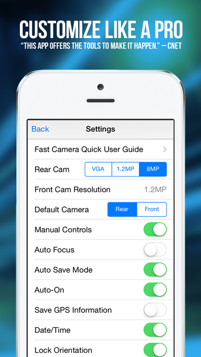 Fast Camera - The Speed Burst, Stealth Cam, 4K Time Lapse Video, Photo Sharing & Stop Motion Photos App Screenshot