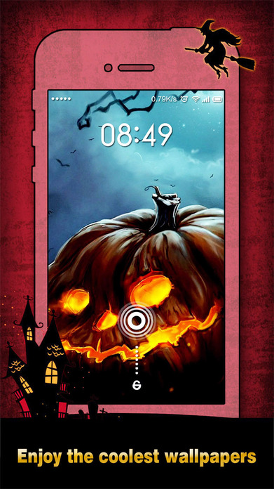 Halloween Wallpapers & Backgrounds HD - Home Screen Maker with Pumpkin, Scary, Ghost Images Screenshot