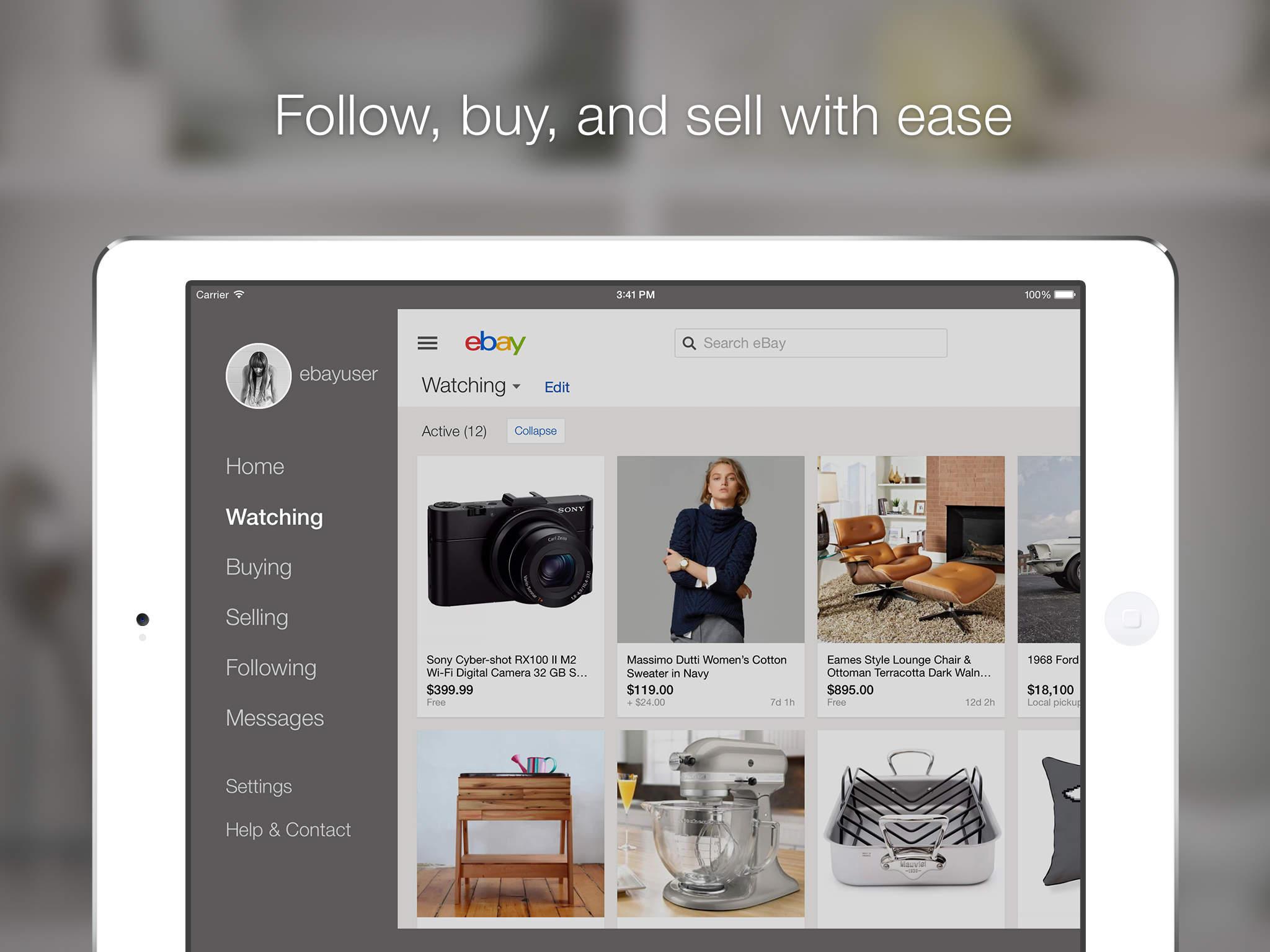 eBay for iPad screenshot-4